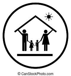 3, 家族, 家, 保護