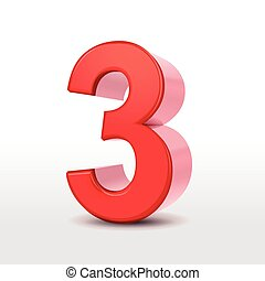 3, 数, 赤, 3d