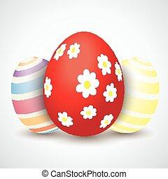 3, 花, 復活節, 蛋