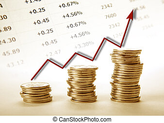 3, 더미, 의, 은 화폐로 주조한다, 와, 빨강, 도표, 진보
