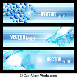 3 abstract banner for web usage , business card or corporate...