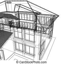 3, abstraktní, novodobý stavebnictví