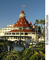 3, albergo, spiaggia, circolare