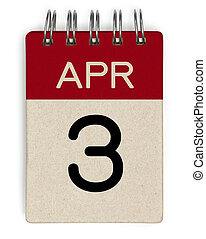 3 apr calendar