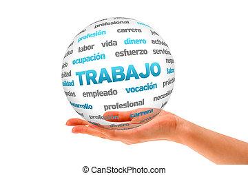 3, arbete, ord, glob, (in, spanish)