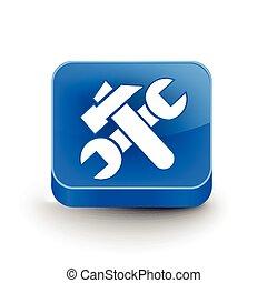 3, beállítás, háló, ikon