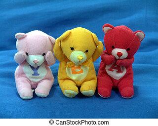 3 bears - 3 toys bears