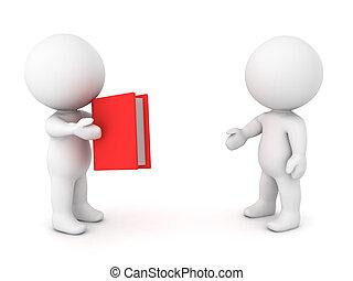 3, betű, ajánlat, könyv, fordíts, másik, személy