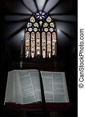 3, bibbia, aperto