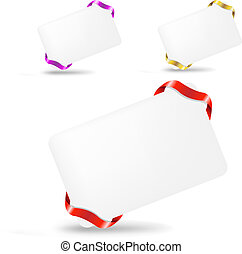 Blank Gift Tag - 3 Blank Gift Tags With Ribbons, Isolated On...