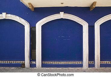 3 Blue Doors & White Trim