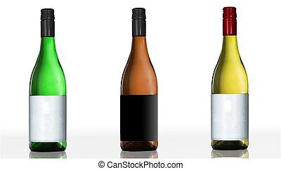 3 bottles of wine