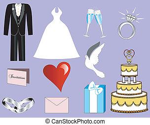 3, bröllop, ikonen