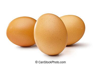 3 brown egg's