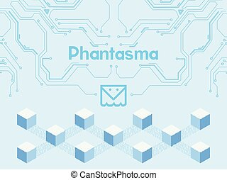 3 btc - Banner, poster crypt currency symbol phantasma on...