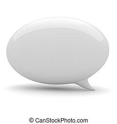 3, bublina, hovor, oproti neposkvrněný, grafické pozadí