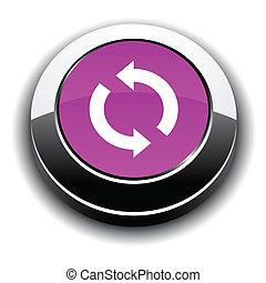 3, button., felfrissít, kerek