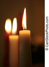 3 candles - shallow depth of field