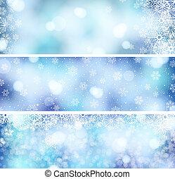3 Christmas banners - set of 3 Christmas banners with...