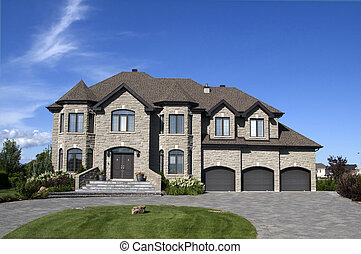 3, coche, garaje, hogar modelo