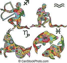 3, coloré, horoscope