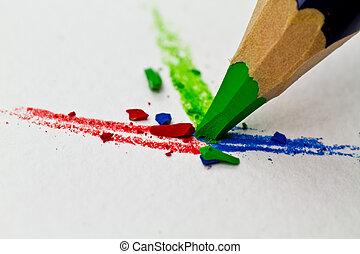 3 color pencils