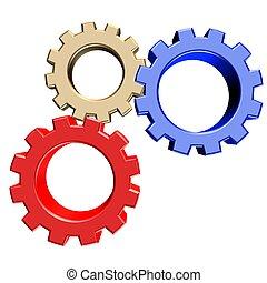 3D rendering of gears