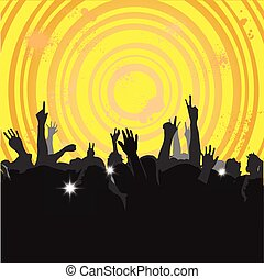 3, concert, menigte