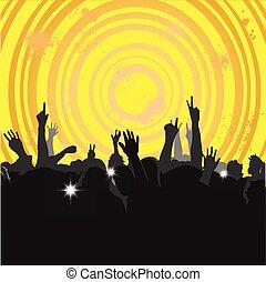 3, concerto, folla