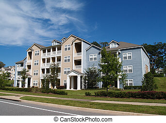 3, condomini, townhou, storia, appartamenti