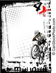 3, cykel, smutsa ner