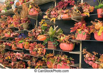 3, décorations, automne