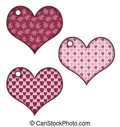3 different hearts