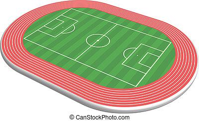 3 dimensional football field pitch