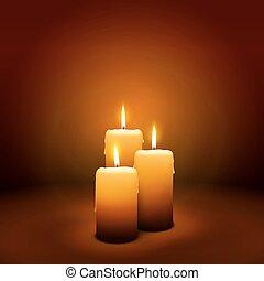 3, domingo, de, advenimiento, -, tercero, vela, -, candlelight