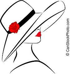 3, donna, cappello