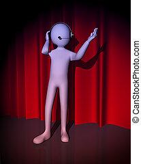 3, ember, énekes