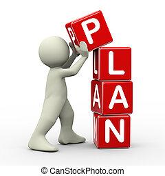 3, ember, elhelyezés, terv, kikövez