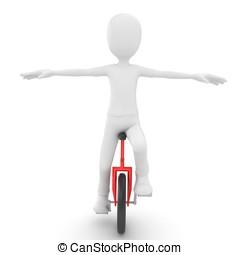 3, ember, noha, unicycle