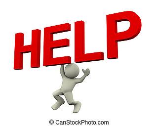 3, ember, segítség, tex