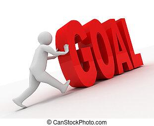 """3, emberek, -, ember, személy, noha, szöveg, """"goal""""., viszonoz, ábra"""