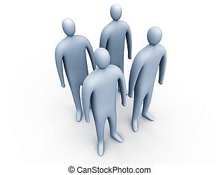 3, emberek, standing#1
