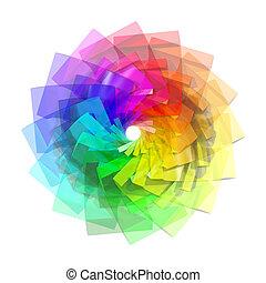 3, färg, spiral, abstrakt, bakgrund
