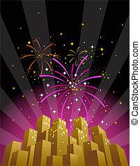 3, fireworks