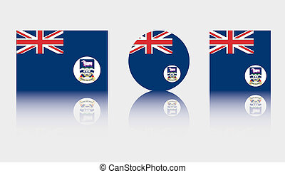3 Flag Illustrations of the country of Falkland Islands