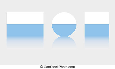 3 Flag Illustrations of the country of San Marino