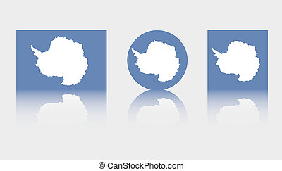 3 Flag Illustrations of the country of Antartica - Three...
