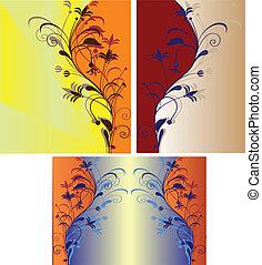 3 floral backgrounds