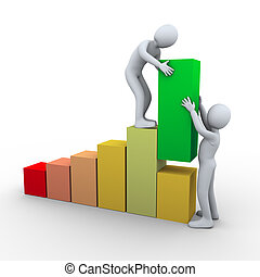 3, folk, fremmarch, barer, teamwork