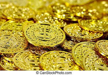 3, geldmünzen, gold